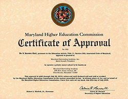 MHEC Certificate of Approval